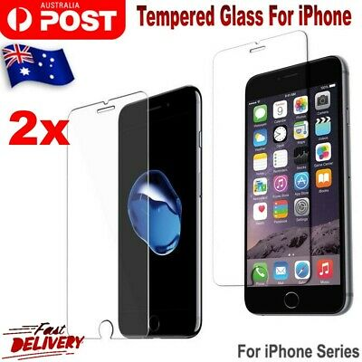 2x Anti Scratch Tempered Glass Screen Protector For iPhone 8 7 7 Plus 6 6s Plus