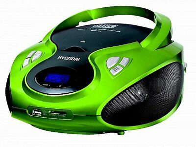 Tragbares Stereo Radio CD PLAYER  mit CD/MP 3 Player USB SD-Card AUX IN GRÜN