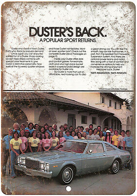 """1979 Plymouth Duster Car Sales Flyer Ad 10"""" x 7"""" Reproduction Metal Sign"""