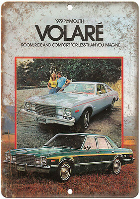"""1979 Plymouth Volae Car Sales Flyer Ad 10"""" x 7"""" Reproduction Metal Sign"""