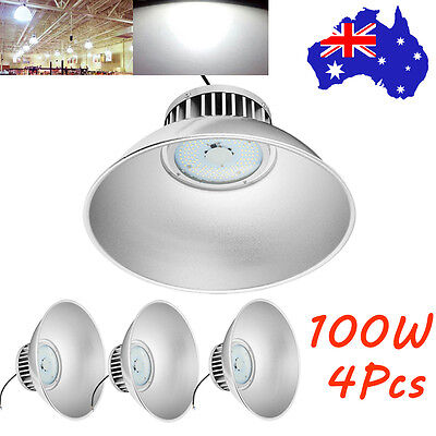 4X 100W LED High Bay Light Office Warehouse Commercial Industrial Factory Lamp