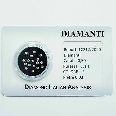 diamante diamanti  0.50 tutti da 0,03 lotto in blister