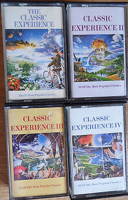 4 x The Classical Experince Double Albums I,II,III,IV - 8 Cassette Tapes