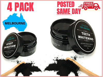 Charcoal Teeth Whitening + Bamboo Toothpaste (Carbon Coconut Shell Coco Kit)