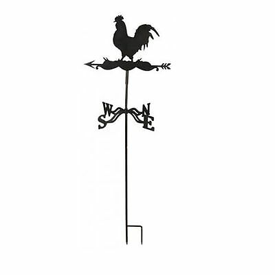 Fallen Fruits  Rooster Weathervane Wind Garden Decor Metal Ground/Wall mounting