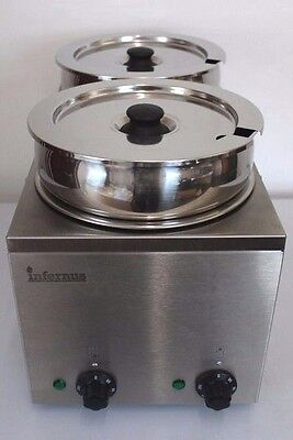 NEW Infernus Wet Operation Commercial BAIN MARIE - 2 EXTRA DEEP POTS - Electric
