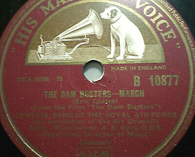 """CENTRAL BAND OF THE ROYAL AIR FORCE """"The Dam Busters (March) / Lilliburlero"""" HMV"""