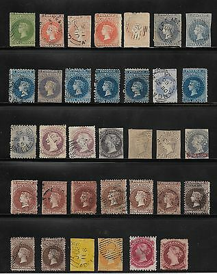 South Australian Collection Of Used Stamps - 1D To 2 Shillings - Star Watermark