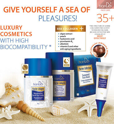 Face Cream Mask Day Night Eye Marine Collagen The beauty from the deep sea Kit