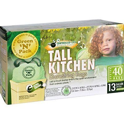 Green-N-Pack Tall Kitchen Trash Bags - 13 Gallon - 40 Count