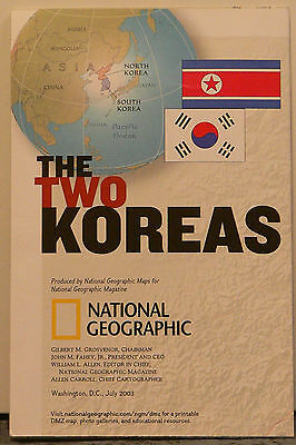 2003 National Geographic Map of the Two Koreas