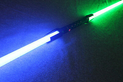 Cosplay Duel Ready Double Blade Lightsaber FX Sound Color Changing Rechargeable