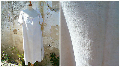Antique 1900 /1910 Edwardian French pure linen shirt / nightgown / size M/L/XL
