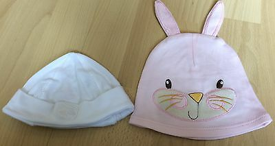 2 Baby Girls Hats Sizes Newborn And 12-18months