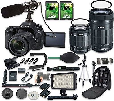 Canon EOS 80D DSLR Camera Bundle with Canon EF-S 18-55mm f/3.5-5.6 IS STM Lens
