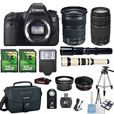 Canon EOS 6D 20.2MP DSLR Camera + Canon 24-105mm STM Lens +Canon 75-300mm III