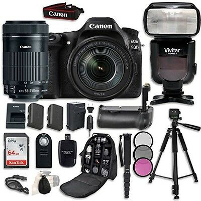 Canon EOS 80D Digital SLR with Canon EF-S 18-135mm f/3.5-5.6 Image Stabilization