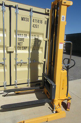 Electric Pallet Jack Straddle Stacker 2200lbs. H-5440 Uline 2hrs COLORADO