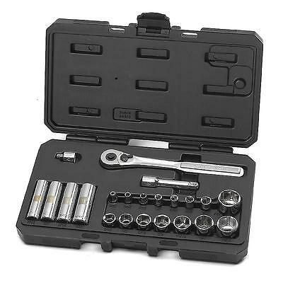 Craftsman 22 Piece Socket Wrench Set Easy Read SAE 34874 (MADE IN USA) (LF)