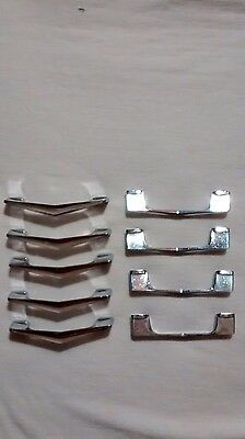 vintage 1950s chrome drawer cabinet door v shape Chevron pulls handles x 9