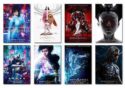Ghost In The Shell 2017 movie Postcard Set 8pcs