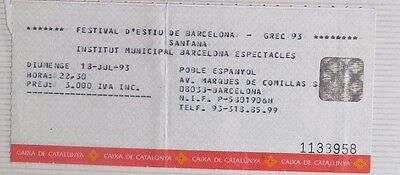 Santana : Ticket Original!!!!!!  (Barcelona 1993) Spain