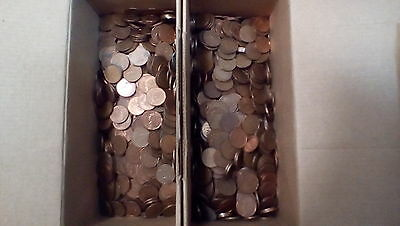 10 POUNDS of CANADIAN PENNIES **1 CENT** from 1965-1996 .980 PURE Copper Bullion