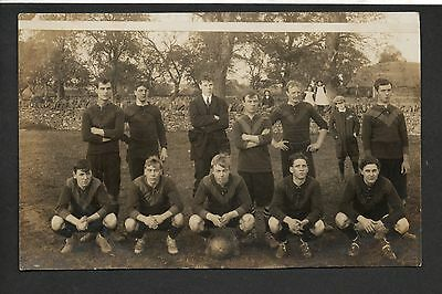 Chipping Norton  - Football Team - real photographic postcards