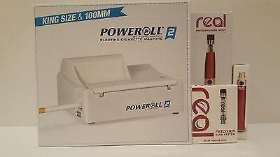 Poweroll 2 Electric Cigarette Machine - King Size & 100mm.1 free Vapor Device