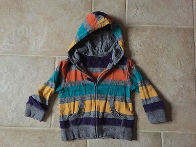 Stripy Hooded Sweater/ Jacket from Next. 12-18 Months