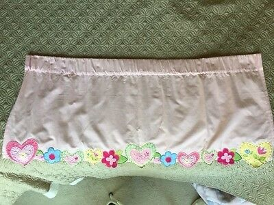 Pottery Barn Kids Ashley Pink Patchwork Gingham Flowers Sweet Heart Valances