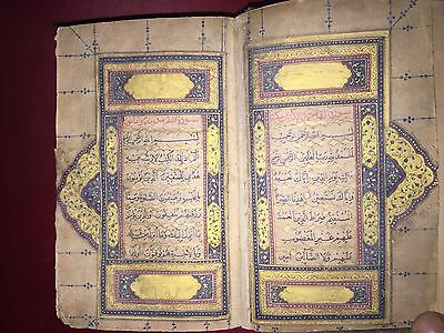 Mughal Illuminated Quran Manuscript 1265 Hijri Written By Attahullah
