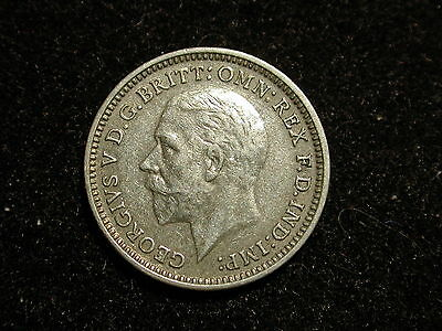 Great Britain 1930 World Coin 3 Pence KM #827 ASW .0227 / XF