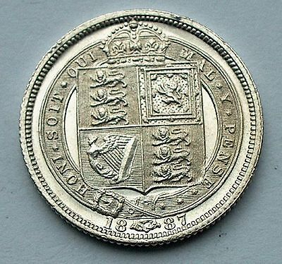 British - 1887 Victoria Sixpence's withdrawn Type (246)