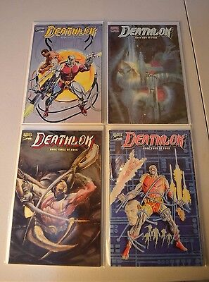 Marvel Comics Deathlok 4 Book Series (Examine Photo for Condition) : Covered