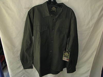 Roland Sands Design Mens Newcombe Overshirt Miltary Green Lg Motorcycle Shirt