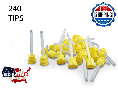 240 HP YELLOW Mixing Tips  – 4.2 mm Impression - Genuine Mixpac - All VPS / PVS