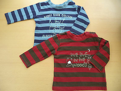 Baby Boys Bundle  3 - 6 Months Long Sleeve Tshirt Tops Matalan Blue / Red Stripe
