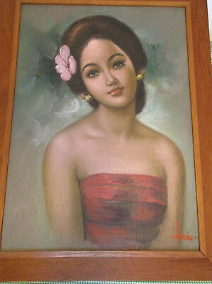 Rare From Estate Signed Hardy Mid Century Oil Painting On Masonite Beautiful