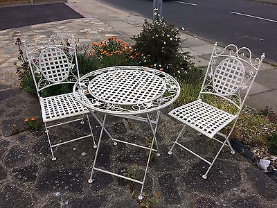 Wrought Iron Table And 2 Chairs Garden Indoor