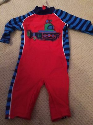 boys age 18-24 months all in one swimming outfit Sunsuit All In One