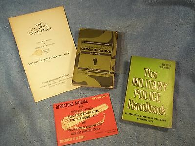 Lot of vintage Military Manuals -  MP & Common Tasks X4