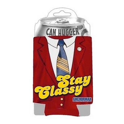 "Anchorman ""The Legend Of Ron Burgundy"" Stay Classy ~ Can Hugger/Koozie ~ NEW!"