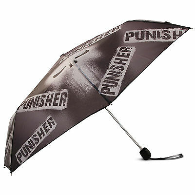 Marvel Superhero Punisher Collapsible Character Umbrella, Big Boys/Mens