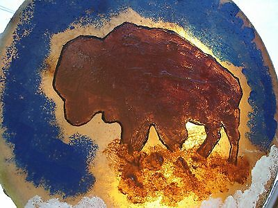 Native American Hand Made Ceremonial Double Sided Buffalo Hide Drum