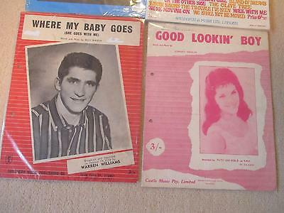 Sheet Music Bulk Lot /  Patsy Ann Noble / Warren Williams / Seekers / Bee Gees