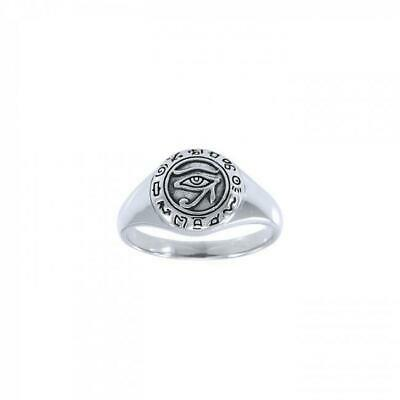 Eye Of Horus Egyptian Sterling Silver Ring by Peter Stone Unique Fine Jewelry