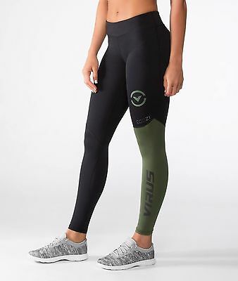 Virus Women's Stay Cool Compression Pants (ECo21) OLIVE GREEN, Crossfit, Running