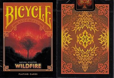 Wildfire Bicycle Playing Cards Poker Size Deck USPCC Natural Disasters Series
