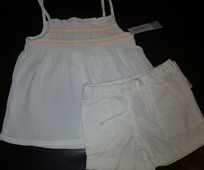 Carter's Girl's Size 2T New 2 Piece Shorts Outfit Sleeveless